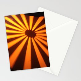Orange Lines at the ground Stationery Cards