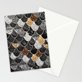 REALLY MERMAID BLACK GOLD Stationery Cards
