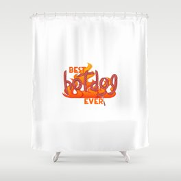 I love hot dogs. Shower Curtain