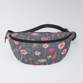 Plymouth Flowers Dark Fanny Pack