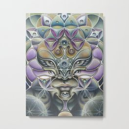 """Avatara"" - Fine Art Print of Acrylic Painting Metal Print"