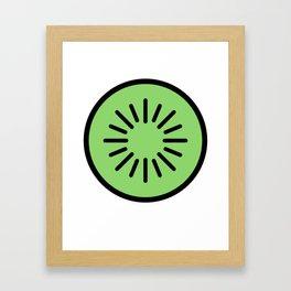 Kiwi Lover Design Cute And Funny Food Gift Idea Framed Art Print