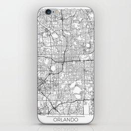 Orlando Map White iPhone Skin