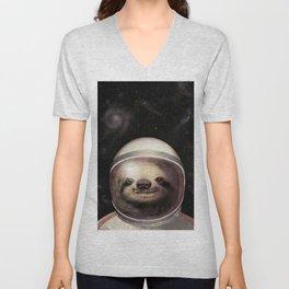 Space Sloth Unisex V-Neck