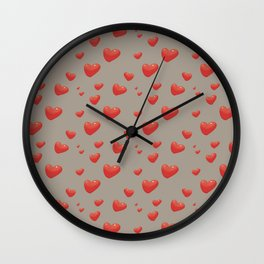 Floating Hearts, Heart Balloons Wall Clock