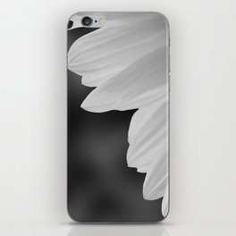 Black and White Sunflower Photography Print iPhone Skin