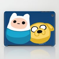 finn and jake iPad Cases featuring  Finn and Jake by Mayying
