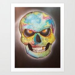Mr. skull himself Art Print