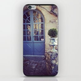 Blue French Country Door iPhone Skin