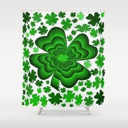 Lucky 4 Leaf Clover Shower Curtain