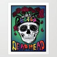 grateful dead Art Prints featuring Grateful Dead Poster by JRyann Studio