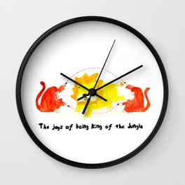The joys of being the King of the Jungle Wall Clock