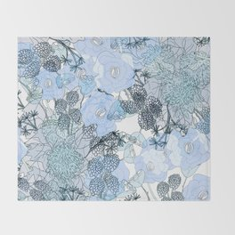 Blue is your color Throw Blanket