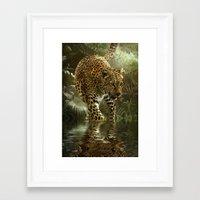 jaguar Framed Art Prints featuring Jaguar by tarrby/Brian Tarr