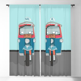 Thailand Tuk Tuk Taxi Travel Poster Blackout Curtain