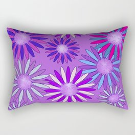Ultra Violet Floral Poetry Rectangular Pillow