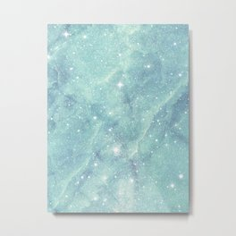 Shining starry marble Metal Print