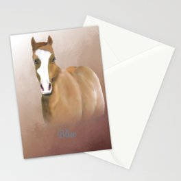 A Horse Named Blue; a Memorial Portrait.  Stationery Cards