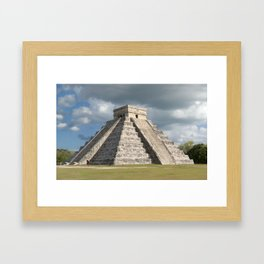 Chichen Itza, El Castillo 2 Framed Art Print