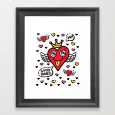 Heart is my King Framed Art Print