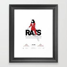 Rays - Poster Framed Art Print