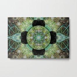 Floral Sphere Metal Print