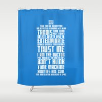 tardis Shower Curtains featuring Tardis by Tombst0ne