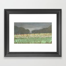 Tulip Parade Framed Art Print