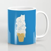 ilovedoodle Mugs featuring Cats Ice Cream by I Love Doodle