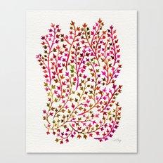 Pink Ivy Canvas Print