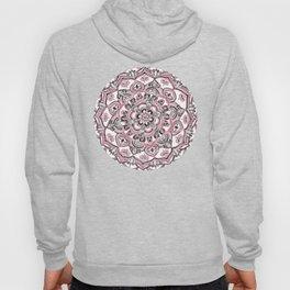 Magical Mandala in Monochrome + Pink Hoody