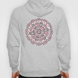 Magical Mandala in Monochrome + Pink Hoody