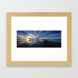 Sunset on the Great Salt Lake Framed Art Print