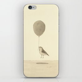 bird with a balloon iPhone Skin
