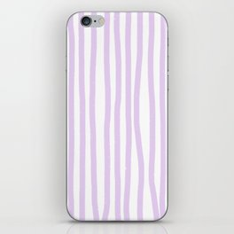 Lavender Stripes iPhone Skin