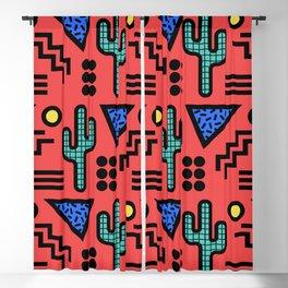 Retro Memphis Style Southwestern Cactus Design 429 Blackout Curtain