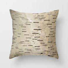 Birch Tree Bark Camo Throw Pillow