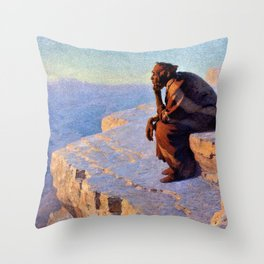 The Great Spirit - Grand Canyon by William R. Leigh Throw Pillow
