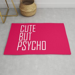 Cute But Psycho - Hot Pink Rug