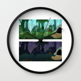 FOREST DAY NIGHT Wall Clock