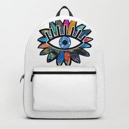 Greek Evil Eye Blue Flower Backpack