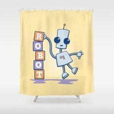 Ned's Blocks Shower Curtain