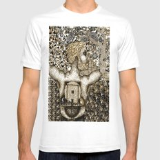 Cycles & Patterns MEDIUM White Mens Fitted Tee
