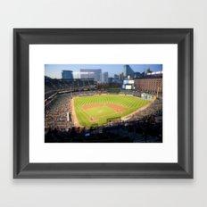 Orioles Baseball Tilt Shift Framed Art Print
