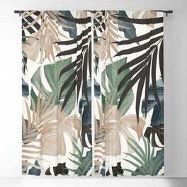 Tropical Jungle Leaves Pattern #13 (Fall Colors) #tropical #decor #art #society6 Blackout Curtain