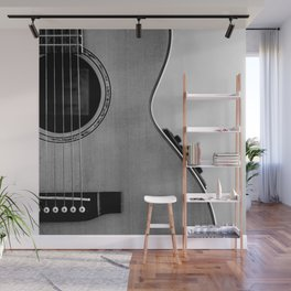 acoustic electric guitar music aesthetic close up elegant fine art photography  Wall Mural