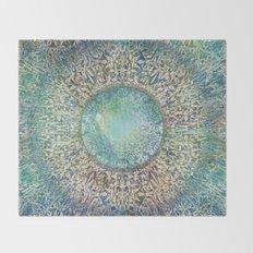 Moon Mandala Throw Blanket