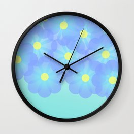digital flowers Wall Clock