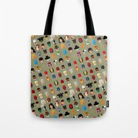 superheroes Tote Bags featuring SuperHeroes by Luca Giobbe
