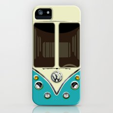 Sale for charity! Blue teal VW volkswagen mini van bus kombi camper iphone 4 4s 5 & galaxy s4 case iPhone (5, 5s) Slim Case